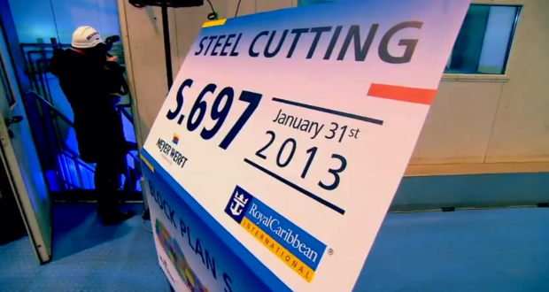 Royal Caribbean Cuts Steel For Quantum of the Seas (Video)